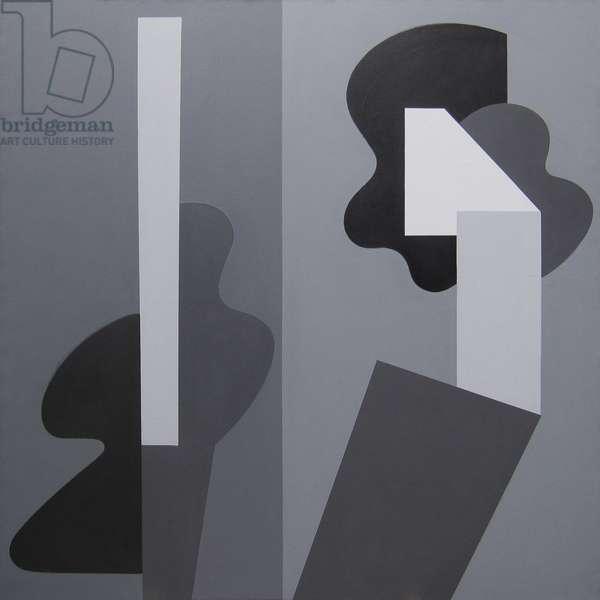 Duo, 1980 (acrylic (aquatec) on linen)