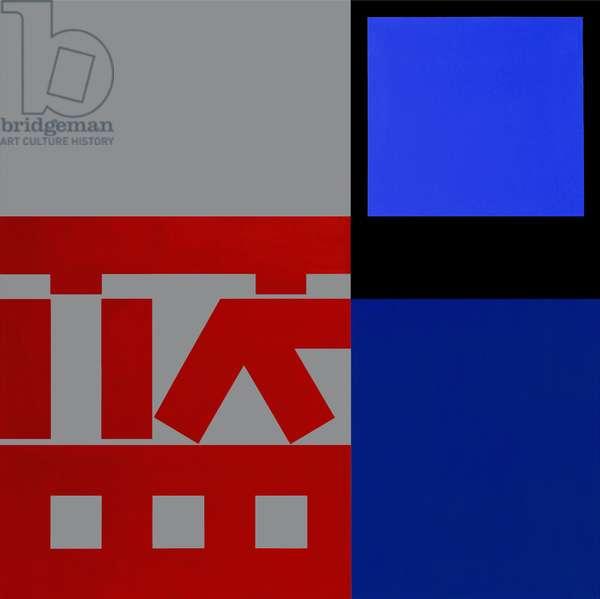 Lang 1, 2004 (acrylic (Liquitex and Golden) on linen)