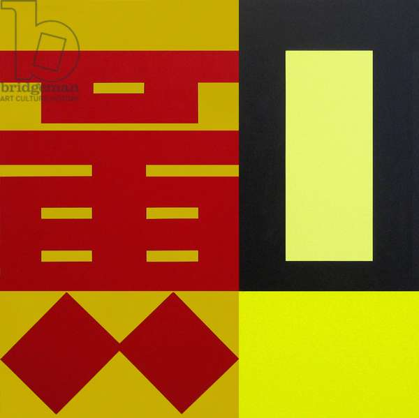 Huang - Yellow, 2009 (acrylic (Liquitex and Golden) on linen)