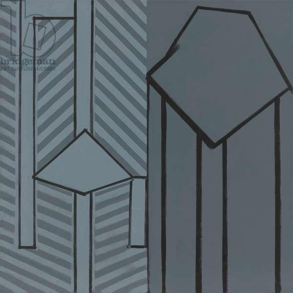 Interior, 1980 (acrylic (aquatec) on linen)