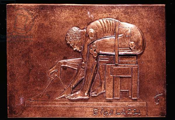 Newton after Blake, 1998 (bronze)