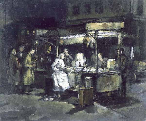 Tubby Isaac's Shellfish Stall, c.1950 (oil on canvas)
