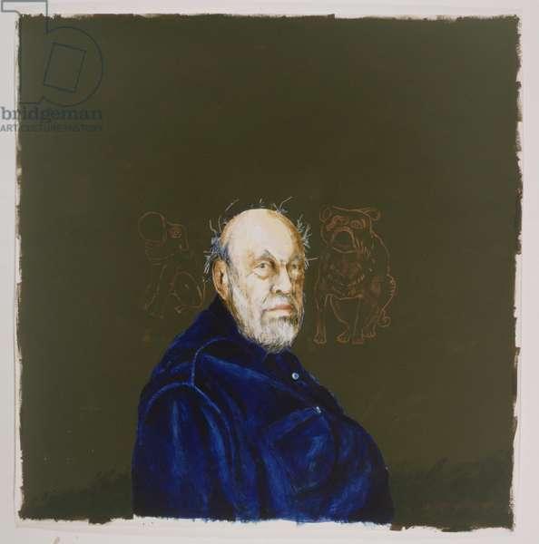 David Sylvester, 1999 (tempera & gouache on paper)