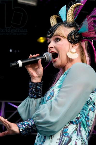 Toyah Wilcox performing at Lytham Proms in Lancashire 2012