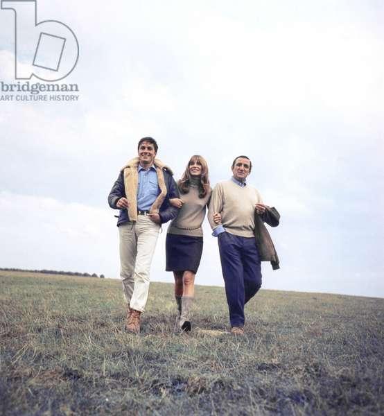 Les Aventuriers by Robert Enrico with Alain Delon, Joanna Shimkus and Lino Ventura, 1966 (photo)