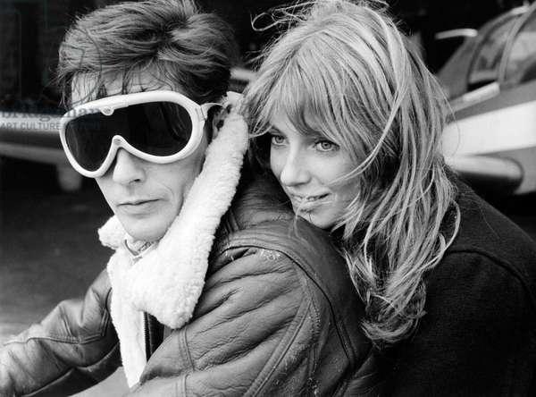 Les Aventuriers by Robert Enrico with Alain Delon, Joanna Shimkus, 1966 (b/w photo)