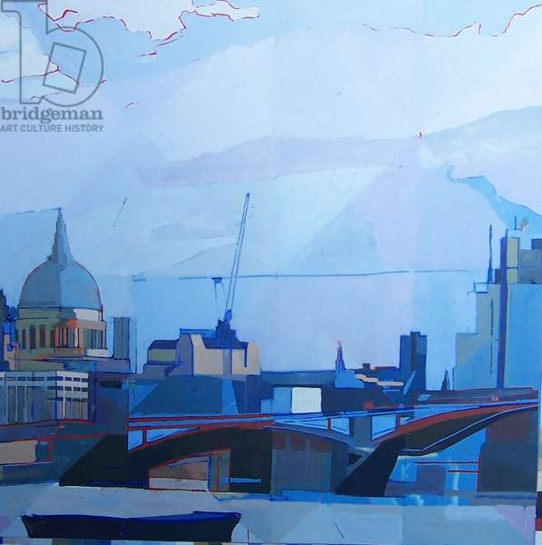 Blackfriars Thames, 2011 (oil on canvas)