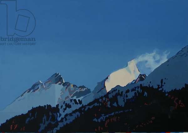 Evening, Cervo, Zermatt, 2010 (oil on canvas)