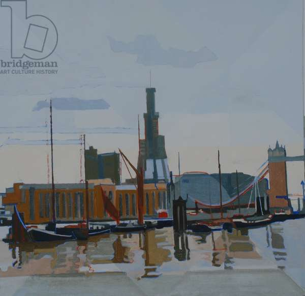 Wapping, Thames, 2012 (oil on panel)