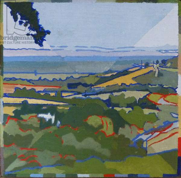 Amberley from Lone Beech, 2012 (oil on canvas)