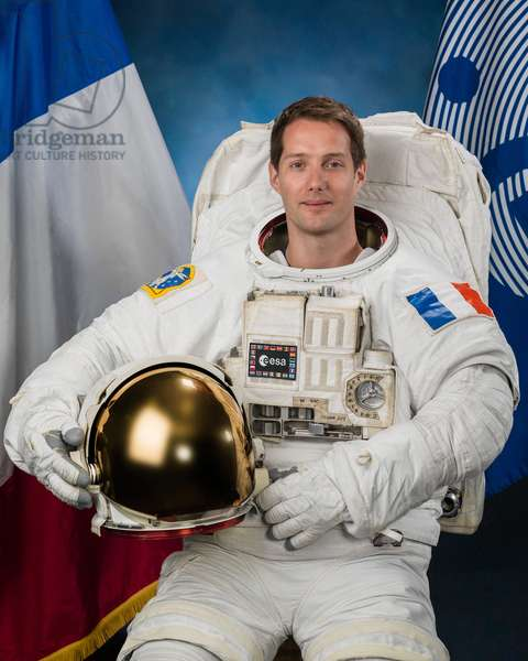 Astronaut Thomas Pesquet - English astronaut Thomas Pesquet - Official portrait of the spationaut Thomas Pesquet. Pesquet is the tenth Frenchman to go into space. Mission Proxima, expedition 50 (November 2016-May 2017).