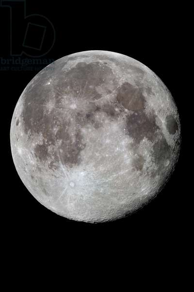 An almost Full Moon - A almost Full Moon - A shortly after the Full Moon. A waning gibbous moon