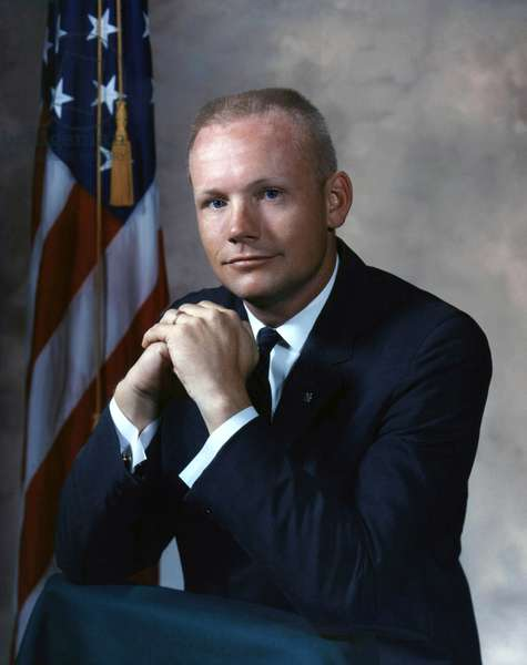 Gemini 8: Neil Armstrong - Portrait of Astronaut Neil Armstrong, Gemini Mission 8. September 1964 Portrait of Astronaut Neil A. Armstron