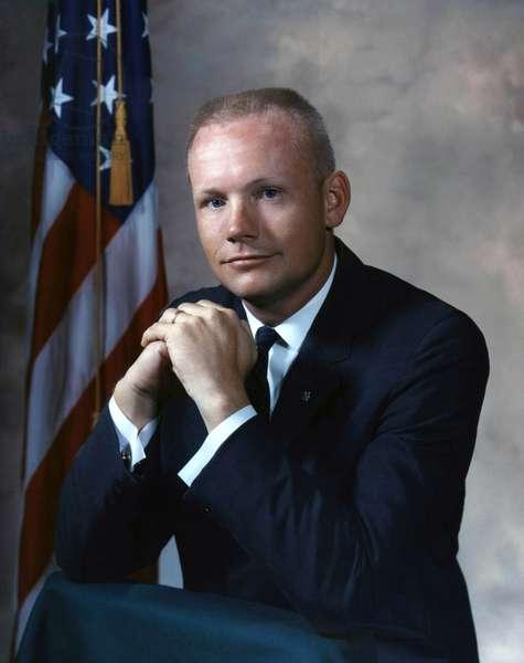 Gemini 8: Neil Armstrong - Portrait of Astronaut Neil Armstrong, Gemini Mission 8. September 1964 Portrait of Astronaut Neil A. Armstron
