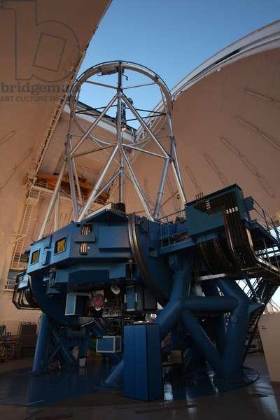 Telescope Gemini south - Gemini South Telescope - The 8.2 m Gemini south telescope. Cerro Pachon, Chile. Gemini south telescope. Cerro Pachon, Chile