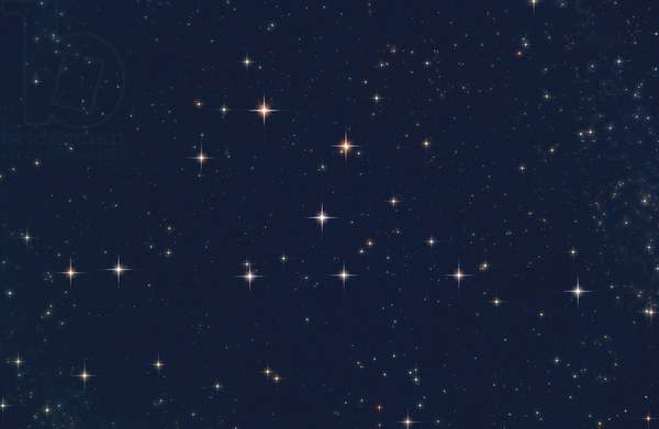 Open cluster CR 399 in Little Fox - The Coathanger (CR 399) in Vulpecula - The Hanger cluster or Brocchi cluster is not a true cluster of stars but an asterism located in the constellation Little Fox
