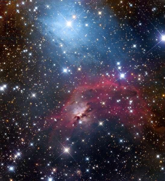Nebula IC 444 in the Gemels - Small reflexion nebula. IC 444 is a small reflection nebula