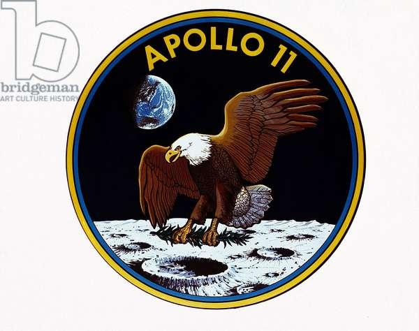 Emblem Apollo 11 - Apollo 11 insignia - Emblem of the mission Apollo 11. 01/06/1969