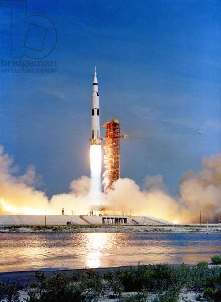 Apollo 11: Decollage of Saturn V - Apollo 11 launch July 16 1969 - Decollage of the Saturn V rocket, Apollo 11. 16/07/1969
