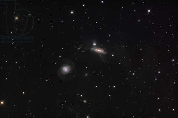 NGC 7771 in Pegase - NGC 7771 in Pegasus - Group of interacting galaxies in the constellation Pegase. A group of interacting galaxies in Pegasus