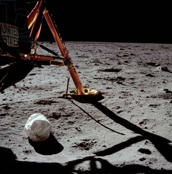 First photo of Neil Armstrong on the Moon - Armstrong's first photo on the Moon surface - Apollo 11: first photo of the Moon surface taken by astronaut Neil Armstrong. Jul 20/07/1969. Apollo 11: Armstrong's first photo after setting foot on the Moon. Jul 20 1969