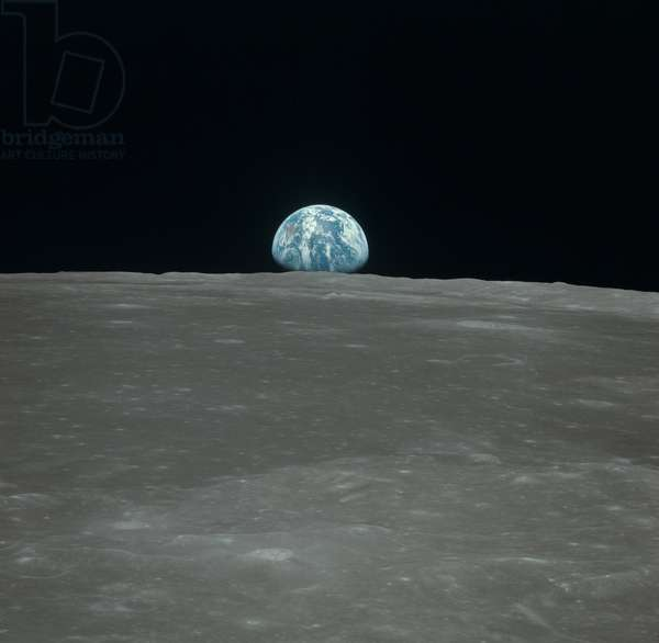 Earthrise and Moon - Apollo 11 - Earthrise and Moon - Apollo 11 - Earthrise seen from Columbia control module. Smyth Sea Region. 20 - 07 - 196