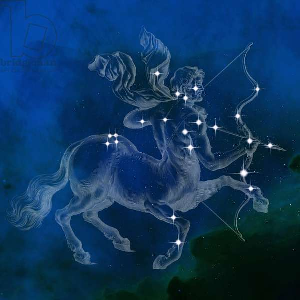 Constellation of Sagittarius - Constellation of Sagittarius - The constellation of Sagittarius with its main stars. Constellation of Sagittarius with its main stars