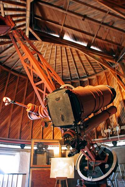"""The Telescope of Schmidt, Lowell Observatory - The 13"""""""" Telescope at Lowell observatory. - The telescope of the Lowell Observatory that allowed the discovery of the Planet Pluto by Clyde Tombaugh in 1930. The 13"""""""" Telescope at Lowell observatory. In 1930, Clyde Tombaugh, an amateur astronomer from Kansas, completed a search started by Percival Lowell some 25 years prior: the search for a ninth planet. Clyde Tombaugh's Pluto discovery took place on February 18, 1930, looking for moving object in photographic plates by this telescope in Lowell Observatory"""