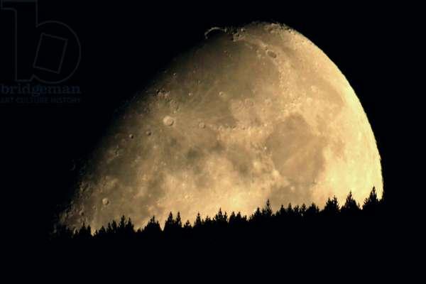 The Moon on the Horizo