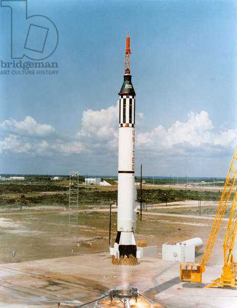 Mercury - Redstone - 3: rocket decollage 05/1961 - Liftoff the Mercury - Redstone 3 spacecraft carrying Alan Shepard. Cape Canaveral. May 05 1961
