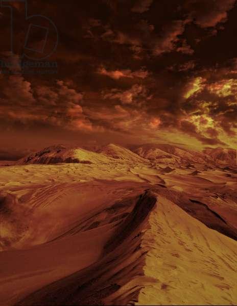 Dunes sur Titan - Artist view