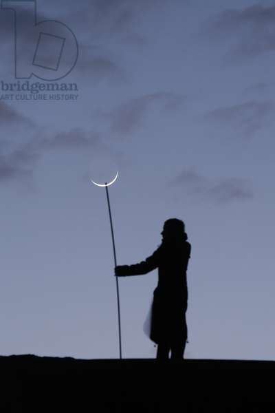 Crescent of Moon - Moon crescent - First crescent of Moon. March 20, 2007. First moon crescent. March 20, 2007