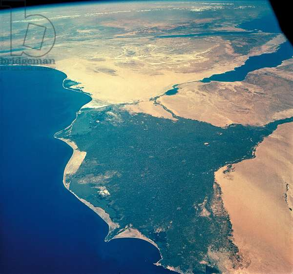 The Nile Delta seen by the crew of Gemini 4 in June 1965 - The Nile Delta seen by the crew of Gemini 4 in June 196
