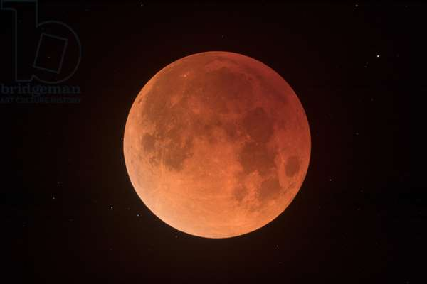 Eclipse de Lune - 31/01/2018 - Lunar eclipse January 31 2018: The total eclipse of the Moon of 31 January 2018 seen at its maximum. This moon eclipse was nicknamed the super blue moon of blood. Maximum of Total Lunar Eclipse. It was nicknamed super blue blood moon