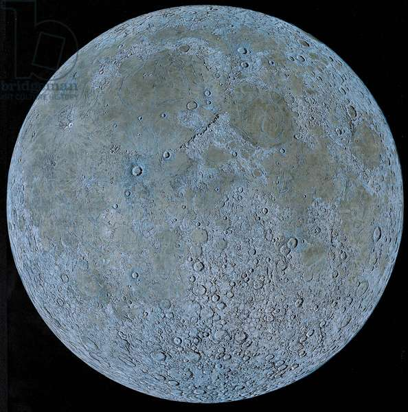 The Visible Face of the Moon- Artist's View - The nearside of the Moon. Artwork