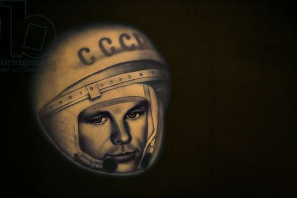 Portrait of Yuri Gagarin - Portrait of Yuri Gagarin - Portrait of Yuri Gagarin (1934 - 1968), the first man to travel in space (April 12, 1961). Portrait of Yuri Gagarin (1934 - 1968), the first man in space (on April 12, 1961)