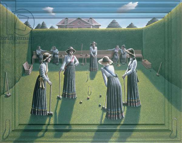 Croquet (acrylic on canvas and wood)