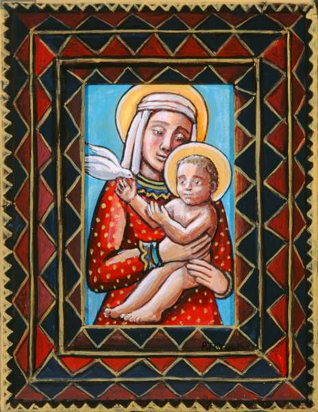 Madonna and Child, 2006 (acrylic on wood)