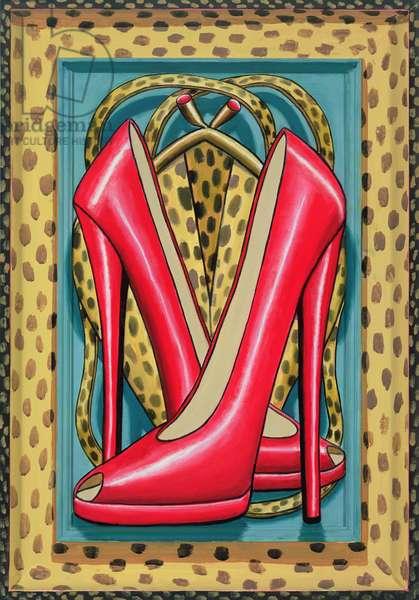 Higher Heels, 2010 (oil on wood)