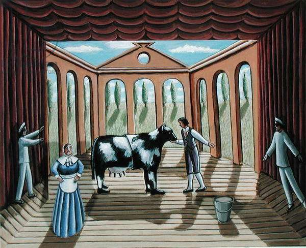 The Pantomime Cow, 2003 (acrylic on wood)