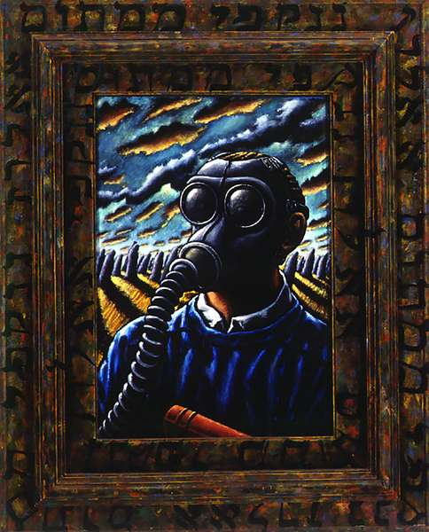 Writing on the Wall,1991, (oil on wood)