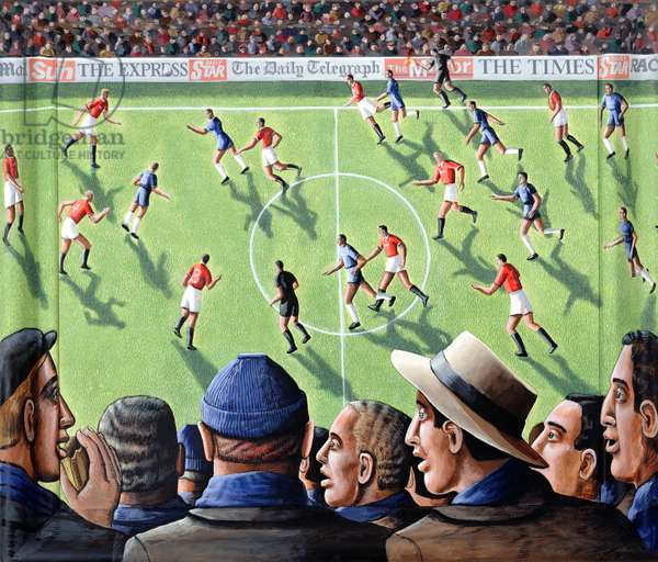 The Big Match, 2000 (acrylic on canvas and wood)