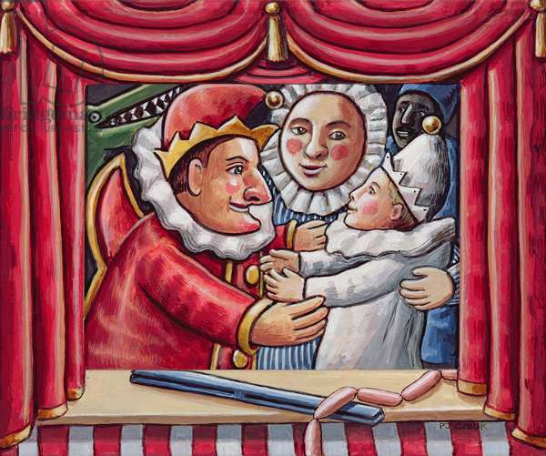 The Punch and Judy Show, 2006 (acrylic on wood)