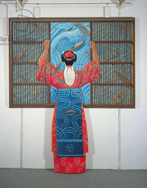 Geisha, 2012 (tinted gesso on wood)