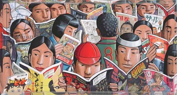 Manga, 2005 (acrylic on canvas and wood)