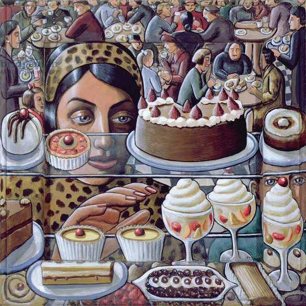 Cafe, 2004 (acrylic on wood)