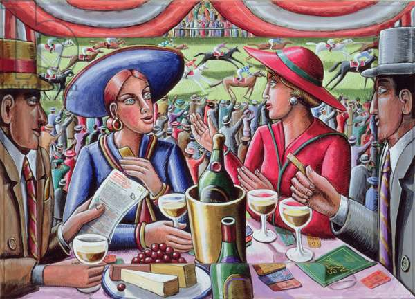 A Day at the Races, 2000 (acrylic on canvas and wood)
