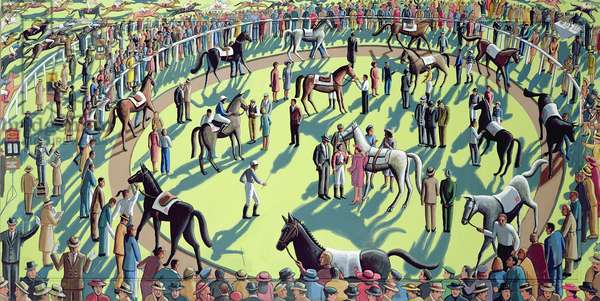 A Day at the Races, 2006 (acrylic on wood)