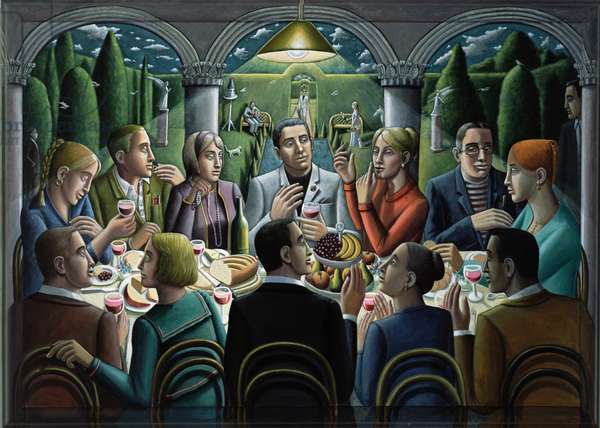 The Supper, 2010 (oil on canvas on wood)