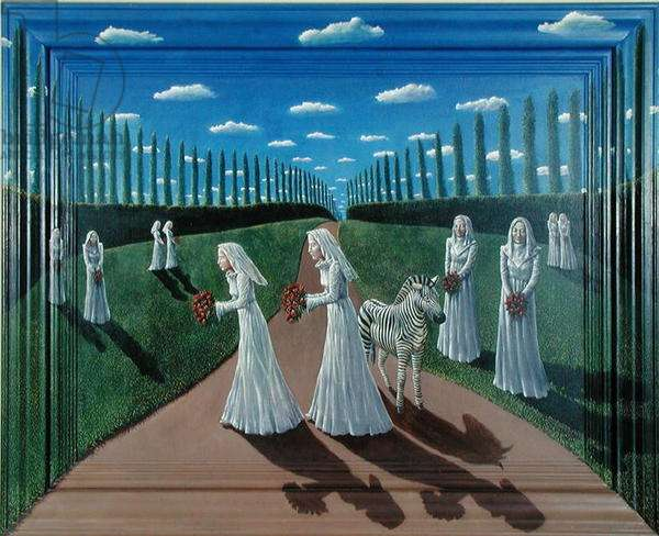 The Brides, 1980 (acrylic on canvas and wood)